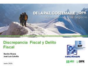 Discrepancia Fiscal y Delito Fiscal