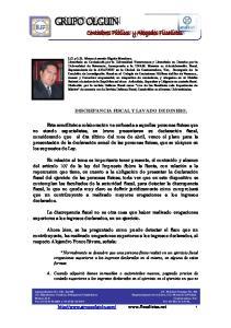 DISCREPANCIA FISCAL Y LAVADO DE DINERO