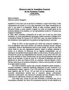 Discurso ante la Asamblea General de las Naciones Unidas Salvador Allende 4 de diciembre de 1972