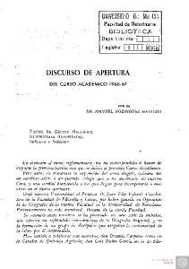 DISCURSO DE APERTURA
