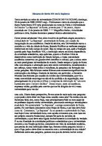 Discurso de Bento XVI em la Sapiensa