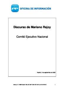 Discurso de Mariano Rajoy