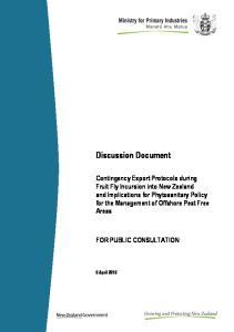 Discussion Document FOR PUBLIC CONSULTATION