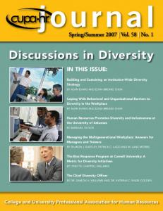 Discussions in Diversity