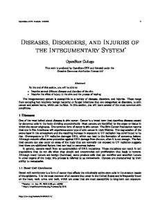 Diseases, Disorders, and Injuries of the Integumentary System