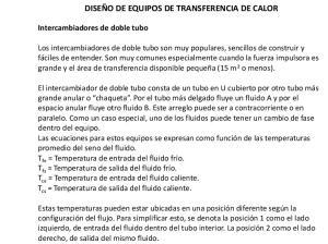 DISEÑO DE EQUIPOS DE TRANSFERENCIA DE CALOR