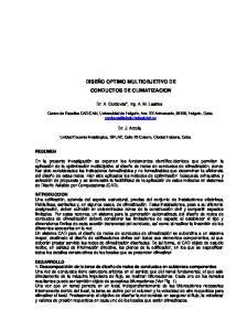 DISEÑO OPTIMO MULTIOBJETIVO DE CONDUCTOS DE CLIMATIZACION