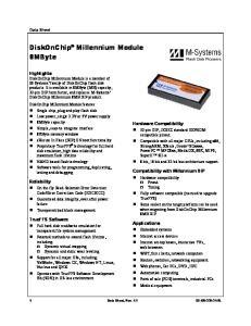 DiskOnChip Millennium Module 8MByte