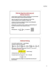 Diskrete Signalverarbeitung und diskrete Systeme