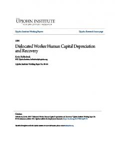 Dislocated Worker Human Capital Depreciation and Recovery