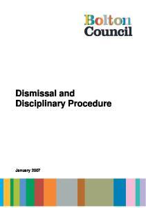 Dismissal and Disciplinary Procedure