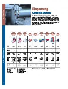 Dispensing Complete Systems