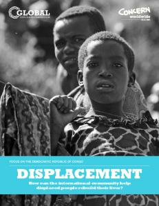DISPLACEMENT How can the international community help displaced people rebuild their lives?