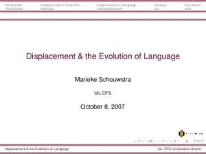 Displacement & the Evolution of Language