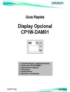 Display Opcional CP1W-DAM01