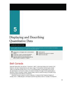 Displaying and Describing Quantitative Data