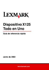Dispositivo X125 Todo en Uno