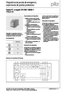 Dispositivos de parada de emergencia, supervisores de puertas protectoras