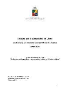 Disputa por el comunismo en Chile: