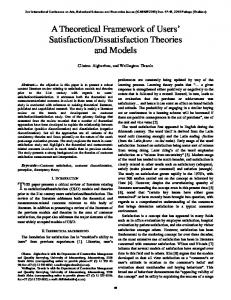 Dissatisfaction Theories and Models