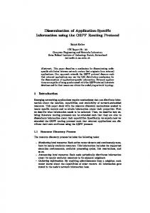 Dissemination of Application-Specific Information using the OSPF Routing Protocol