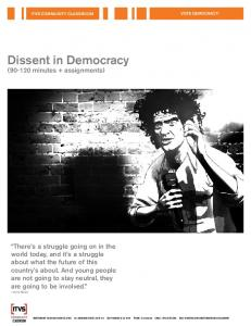Dissent in Democracy. ( minutes + assignments)