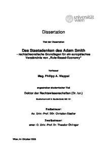 Dissertation. Titel der Dissertation