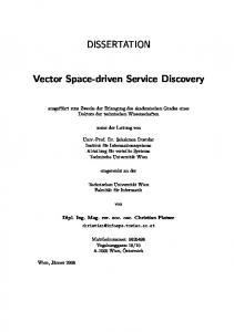 DISSERTATION. Vector Space-driven Service Discovery
