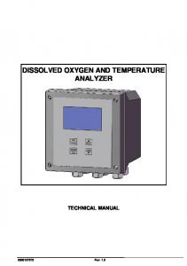 DISSOLVED OXYGEN AND TEMPERATURE ANALYZER TECHNICAL MANUAL