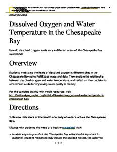 Dissolved Oxygen and Water Temperature in the Chesapeake Bay