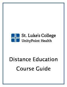 Distance Education Course Guide