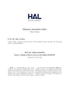 Distance education ethics
