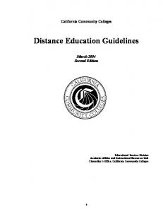 Distance Education Guidelines