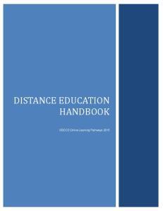 DISTANCE EDUCATION HANDBOOK