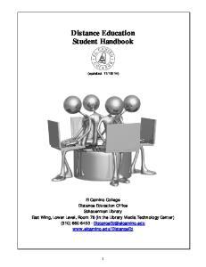 Distance Education Student Handbook