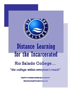 Distance Learning for the Incarcerated