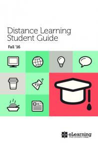 Distance Learning Student Guide. Fall 16