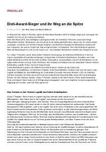 Disti-Award-Sieger und ihr Weg an die Spitze