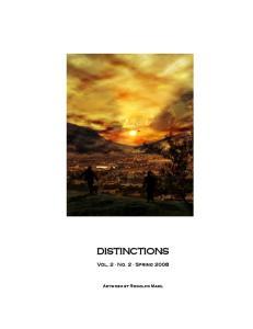 DISTINCTIONS. Vol. 2 No. 2 Spring Artwork by Rodolfo Maxil