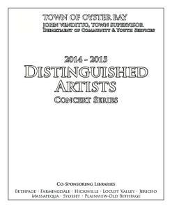 Distinguished Artists