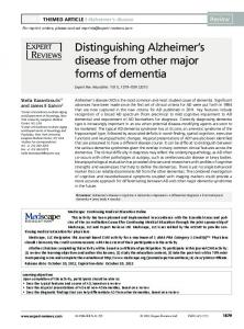 Distinguishing Alzheimer s disease from other major forms of dementia