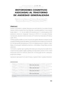 DISTORSIONES COGNITIVAS ASOCIADAS AL TRASTORNO DE ANSIEDAD GENERALIZADA
