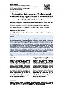Distraction Osteogenesis: Evolution and Contemporary Applications in Orthodontics
