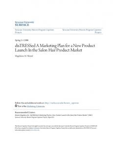 distressed A Marketing Plan for a New Product Launch In the Salon Hair Product Market