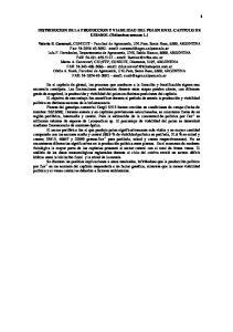 DISTRIBUCION DE LA PRODUCCION Y VIABILIDAD DEL POLEN EN EL CAPITULO DE GIRASOL (Helianthus annuus L.)