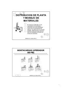 DISTRIBUCION DE PLANTA Y MANEJO DE MATERIALES