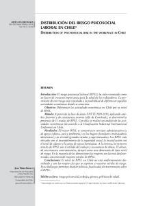 Distribución del riesgo psicosocial