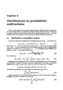 Distribuciones de probabilidad multivariadas