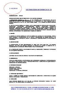 DISTRIBUIDORA MEDIRAM SA DE CV