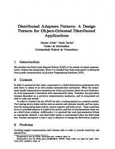 Distributed Adapters Pattern: A Design Pattern for Object-Oriented Distributed Applications